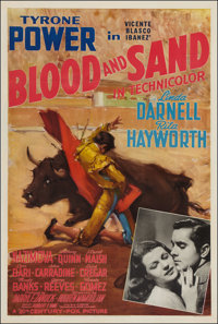 "Blood and Sand (20th Century Fox, 1941). One Sheet (27"" X 41"") Style B. Drama"