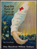 "Movie Posters:War, World War I American Red Cross (American Red Cross, 1918). War FundWeek, American Red Cross Poster (20.5"" X 27.5"") ""Keep Th..."