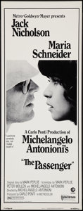 "Movie Posters:Drama, The Passenger (United Artists, 1975). Insert (14"" X 36""). Drama.. ..."