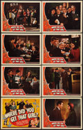 """Movie Posters:Comedy, Where Did You Get That Girl? (Universal, 1941). Lobby Card Set of 8 (11"""" X 14""""). Comedy.. ... (Total: 9 Items)"""