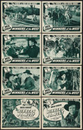 """Movie Posters:Western, Winners of the West (Universal, 1940). Lobby Card Set of 8 (11"""" X 14"""") Chapter Two -- """"The Wreck at Red River Gorge."""" Serial... (Total: 9 Items)"""