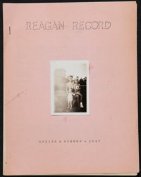 "The Reagan Record & Others Lot (Ronald Regan Fan Club, 1947). Newsletter (Multiple Pages, 8.5"" X 11""), Cha..."