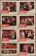 "Movie Posters:Exploitation, Caged (Warner Brothers, 1950). Lobby Card Set of 8 (11"" X 14"").Exploitation.. ... (Total: 8 Items)"