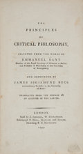Books:Philosophy, [Immanuel Kant, subject]. James Sigismund Beck. The Principles of Critical Philosophy, Selected from the Works of Emmanu...