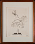 Books:Prints & Leaves, [Marilyn Monroe]. Al Hirschfeld. Marilyn Monroe Standing Over aSubway Grate in The Seven Year Itch. [1983]. O...