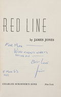 Books:Literature 1900-up, James Jones. The Thin Red Line. New York: Scribner's,[1962]. First edition. Inscribed....