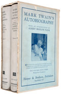 Books:Biography & Memoir, Mark Twain. Mark Twain's Autobiography. New York: Harper,1924. First edition.... (Total: 2 Items)