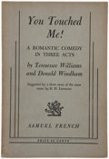 Books:Literature 1900-up, Tennessee Williams and Donald Windham. You Touched Me! NewYork: Samuel French, [1947]. First edition, first issue, ...
