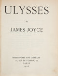 Books:Literature 1900-up, James Joyce. Ulysses. Paris: Shakespeare & Co., 1926.Eighth printing, the first to be entirely re-set....