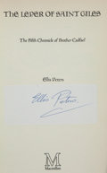 Books:Mystery & Detective Fiction, Ellis Peters. The Leper of Saint Giles. [London]: Macmillan,[1981]. First edition. Signed on a label.. ...