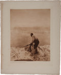 Books:Prints & Leaves, Edward Sheriff Curtis. Photogravure: GatheringWokas-Klamath. From Curtis's The North American Indian.1...