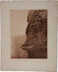 Books:Prints & Leaves, Edward Sheriff Curtis. Photogravure: Fishing Platform on TrinityRiver-Hupa. From Curtis's The North America...