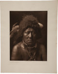 Books:Prints & Leaves, Edward Sheriff Curtis. Photogravure: Bull Neck-Arikara. FromCurtis's The North American Indian. 1908....
