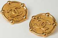 "Heritage Vintage: Chanel Gold Clip-On ""CC"" Earrings"