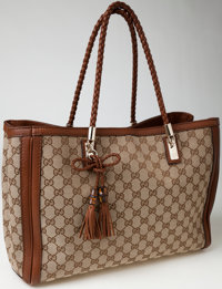 Heritage Vintage: Gucci Classic Monogram Canvas Tote Bag