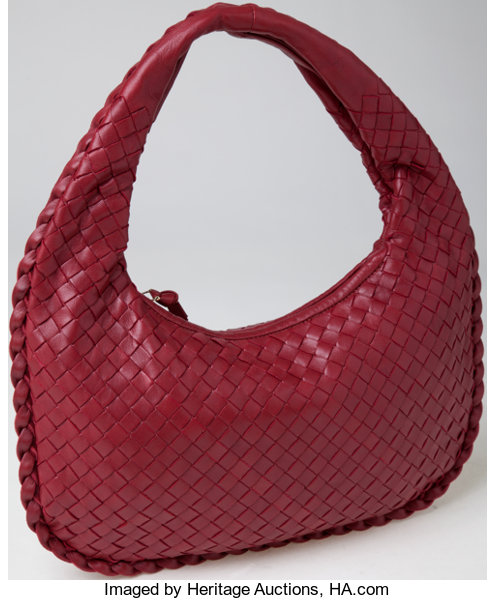 ee577529713 ... Luxury Accessories Bags, Heritage Vintage  Bottega Veneta Classic Blood  Red Woven NappaLeather Small ...