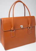 Luxury Accessories:Bags, Heritage Vintage: Lambertson Truex Brown Calf Leather Handbag. ...