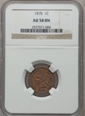 Indian Cents: , 1878 1C AU58 NGC. NGC Census: (26/149). PCGS Population (33/86).Mintage: 5,799,850. Numismedia Wsl. Price for problem free...