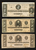 Confederate Notes:1864 Issues, Confederate Trio.. ... (Total: 3 notes)