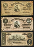 Confederate Notes:1864 Issues, 1864 Trifecta.. ... (Total: 3 notes)