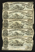 Obsoletes By State:Louisiana, Shreveport, LA- State of Louisiana $5 Mar. 10, 1863. ... (Total: 5 notes)