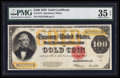 Large Size:Gold Certificates, Fr. 1215 $100 1922 Gold Certificate PMG Choice Very Fine 35 EPQ.. ...