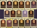 Baseball Collectibles:Others, Baseball Greats Signed Hall of Fame Plaque Postcards Lot of 18....