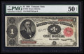 Large Size:Treasury Notes, Fr. 352 $1 1891 Treasury Note PMG About Uncirculated 50 EPQ.. ...