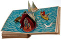 "Books:Children's Books, [Pop-up Book]. [Harold Lentz, illustrator]. [Carlo Collodi]. The""Pop-Up"" Pinocchio. New York: Blue Ribbon, [1932]. First e..."