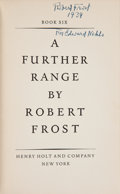 Books:Literature 1900-up, Robert Frost. Two First Editions in Dust Jacket, including: AFurther Range; A Witness Tree. New York:Holt, [1936, 1...