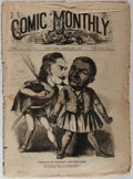 Books:Americana & American History, Comic Monthly. New York: February 1867. Vol. VIII, No. 7. Complete in sixteen pages. Large corner tear to pages 7-8,...