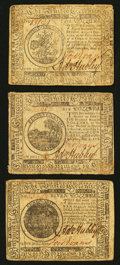 Colonial Notes:Continental Congress Issues, Continental Currency May 9, 1776 $5 Very Fine; May 9, 1776 $6 VeryFine; May 9, 1776 $7 Very Fine.. ... (Total: 3 notes)
