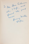 Books:Literature 1900-up, [Henry Miller]. Hermann Hesse. Siddhartha. [NY: NewDirections, 1951]. First American edition. Signed and insc...