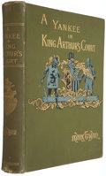 Books:Literature Pre-1900, Mark Twain. A Connecticut Yankee in King Arthur's Court. New York: Webster, 1889. First edition, later state....
