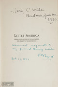 Books:Travels & Voyages, Richard Evelyn Byrd. Little America. New York: Putnam, 1930. First edition. Inscribed....