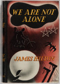 Books:Fiction, James Hilton. We Are Not Alone. London: Macmillan, 1937.First edition. Publisher's binding, dust jacket. Jacket mil...
