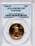 Modern Bullion Coins, 2004-W $25 Half-Ounce Gold Eagle PR70 Deep Cameo PCGS. PCGSPopulation (167). NGC Census: (667). Numismedia Wsl. Price for...