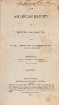 Books:Americana & American History, [Robert Walsh, ed.]. American Review of History and Politics andGeneral Repository of Literature and State Papers.... (Total: 4Items)
