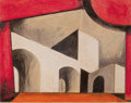 Latin American:Early 20th Century, EMILIANO DI CAVALCANTI (Brazilian, 1897-1976). Construction,1929. Gouache and pencil on paper. 10 x 12-1/2 inches (25.4...