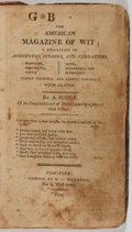 Books:Americana & American History, [Americana]. A Judge. G B The American Magazine of Wit...New York: Southwick, 1808. Contemporary leather over p...