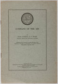 Books:Americana & American History, Rear Admiral R. E. Peary. Command of the Air. Reprinted from The Annals of the American Academy of Political and...