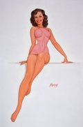 Pin-up and Glamour Art, BARON GERALD (JERRY) VON LIND (American, b. 1937). Estelle,2008. Oil on canvas. 36 x 24 in.. Signed center right. ... (Total:3 Items)