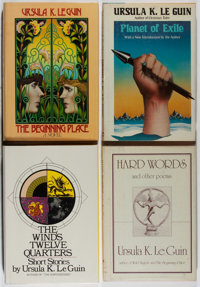 [Jerry Weist]. Ursula K. Le Guin. Group of Four Books, Three Being First Editions. Harper & Row, 1975-1981. Planet...