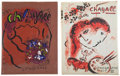 Books:Art & Architecture, Mark Chagall. Julien Cain. The Lithographs of Chagall. [1960]. [and:] Julien Cain. The Lithographs of Ch... (Total: 2 Items)