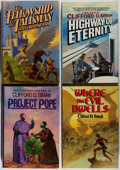 Books:Science Fiction & Fantasy, [Jerry Weist]. Clifford D. Simak. Group of Four First Edition Books. Del Rey, 1978-1986. Very good or better.... (Total: 4 Items)