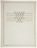 Books:Music & Sheet Music, Elton John. Five Years of Fun. Woodland Hills, CA: Boutwell,1975. Limited edition, signed by Elton John....