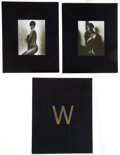 Books:Signed Editions, Herb Ritts. Men/Women. [Altadena, CA: Twin Palms, 1989]. First edition, one of 5,000 sets. Inscribed by Ritts.... (Total: 2 Items)