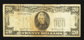 Error Notes:Third Printing on Reverse, Fr. 2073-B $20 1981 Federal Reserve Note. Fine.. ...