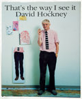 Books:Art & Architecture, David Hockney. That's the way I see it. [London]: [1993]. First edition, Inscribed by Hockney....