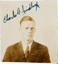 Autographs:Military Figures, Charles Lindbergh Photograph Signed...